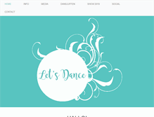 Tablet Preview of let-s-dance.be
